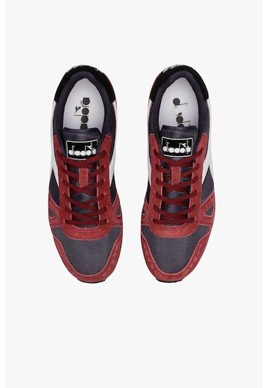 Diadora Pantofi sport de plasa cu garnituri de piele intoarsa Simple Run Barbati