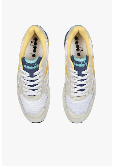 Diadora Pantofi sport unisex de piele intoarsa cu logo N902 Femei