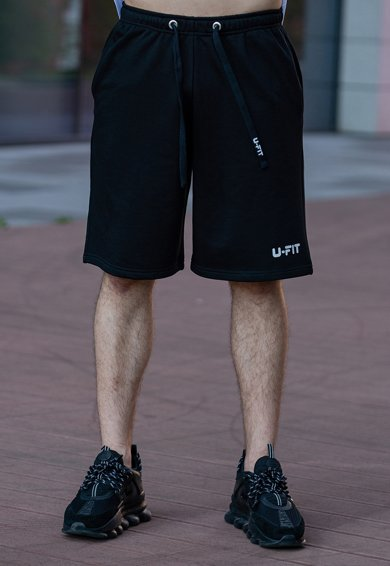 uFIT Pantaloni supradimensionati scurti cu snur si buzunare Barbati