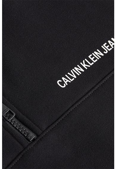 CALVIN KLEIN JEANS Bluza sport din amestec de bumbac organic cu fermoar scurt Femei