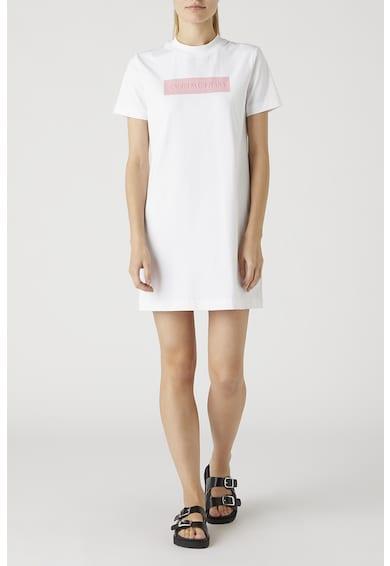 CALVIN KLEIN JEANS Rochie-tricou cu logo in relief Femei