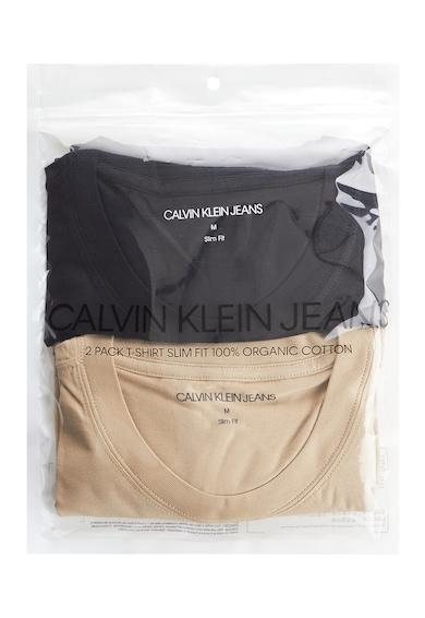 CALVIN KLEIN JEANS Set de tricouri slim fit din bumbac organic- 2 piese Femei