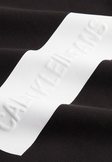 CALVIN KLEIN JEANS Bluza sport cu logo in relief si maneci raglan Femei