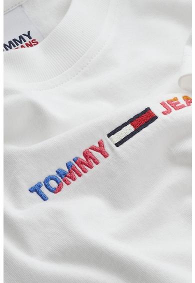 Tommy Jeans Tricou crop din bumbac organic Femei