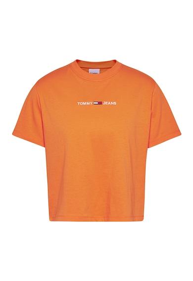 Tommy Jeans Tricou din bumbac organic cu logo brodat Femei