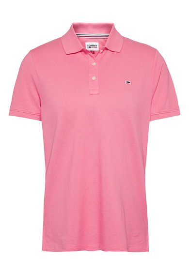 Tommy Jeans Tricou polo slim fit din bumbac organic Femei