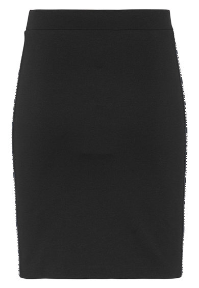 Tommy Jeans Fusta creion cu vipusca cu logo Femei