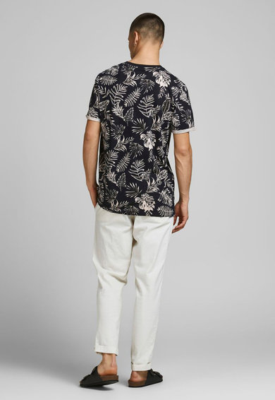 Jack&Jones Tricou de plaja cu imprimeu tropical Barbati