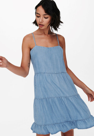 Only Rochie evazata din material chambray Femei