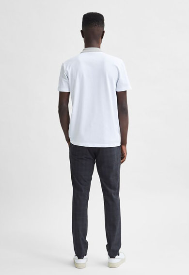 Selected Homme Tricou polo din bumbac organic Marion Barbati