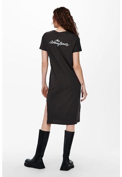 Only Rochie-tricou cu imprimeu si slit lateral Femei