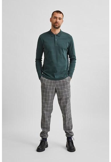 Selected Homme Bluza polo din bumbac organic Barbati