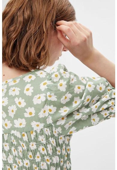 Pieces Rochie cu imprimeu floral si talie cu snur Femei