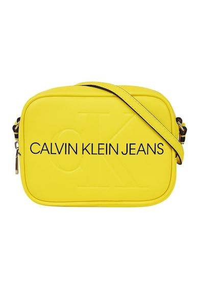CALVIN KLEIN JEANS Geanta crossbody de piele ecologica cu logo Femei