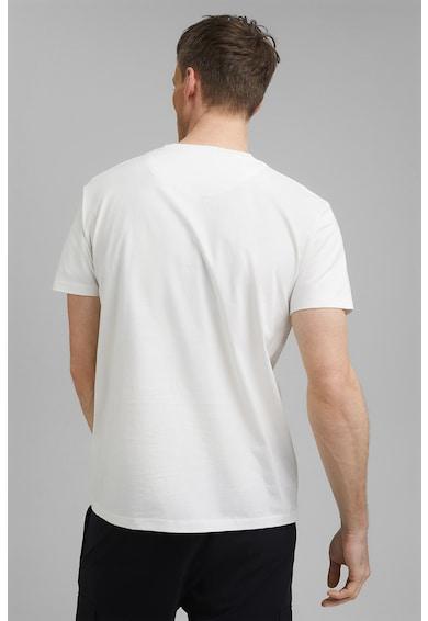 Esprit Tricou de bumbac organic cu imprimeu logo discret Barbati