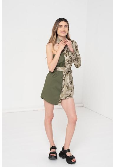 Amazing Rochie mini tip camasa cu terminatie asimetrica Femei