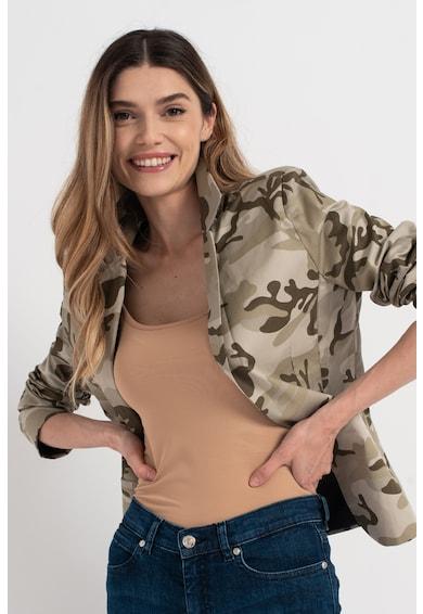 Amazing Sacou cu imprimeu camuflaj Femei