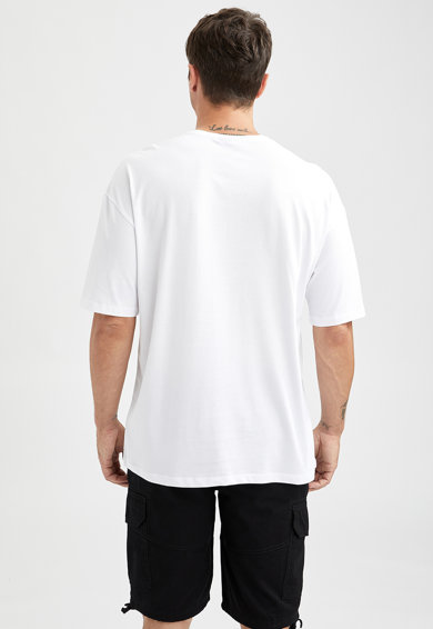 DeFacto Set de tricouri de bumbac - 2 piese Barbati