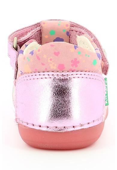 Kickers kids Pantofi de piele cu velcro Fete