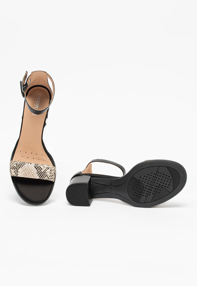 Geox Кожени сандали Sozy с каишка на глезена Жени