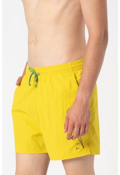 Nike Pantaloni scurti de baie cu imprimeu logo si snur de ajustare in talie Barbati