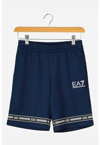 EA7 Bermude din jerseu cu benzi logo contrastante Baieti