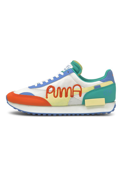 Puma Pantofi sport unisex cu insertii din piele Future Rider Femei