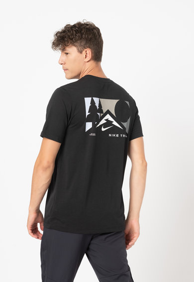 Nike Tricou cu imprimeu pe partea din spate pentru alergare Trail Barbati