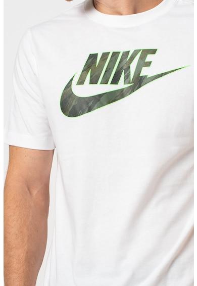 Nike Tricou cu decolteu la baza gatului si imprimeu logo Sportswear Essential Barbati