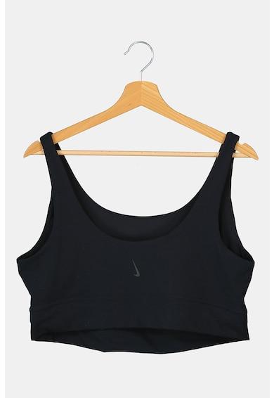Nike Bustiera cu detaliu logo, pentru yoga Femei