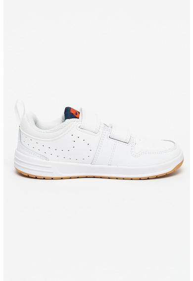 Nike Pantofi sport de piele si piele ecologica cu velcro Piko 5 Fete