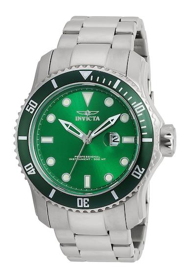 Invicta Аналогов часовник с метална верижка Мъже