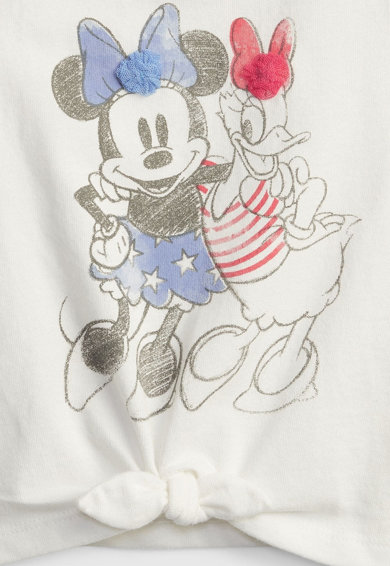 GAP Top din bumbac cu model Minnie Mouse&Daisy Duck Fete