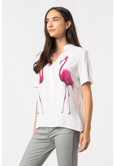 Zabaione Bluza cu imprimeu cu flamingo Luz Femei