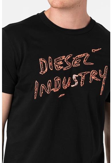 Diesel Tricou de bumbac cu imprimeu logo T-Diego Barbati
