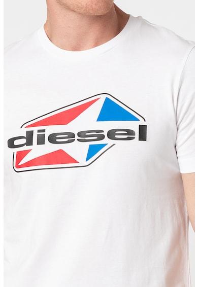 Diesel Tricou de bumbac cu logo Diegos Barbati