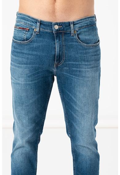 Tommy Jeans Blugi cu croiala conica si model cu 5 buzunare Barbati