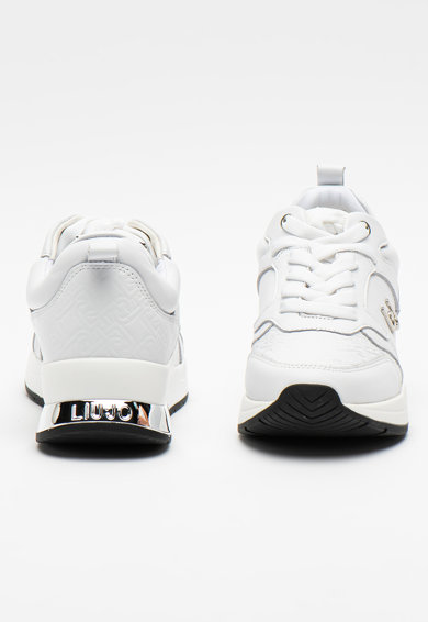 Liu Jo Pantofi sport de piele cu logo metalizat Karlie Femei