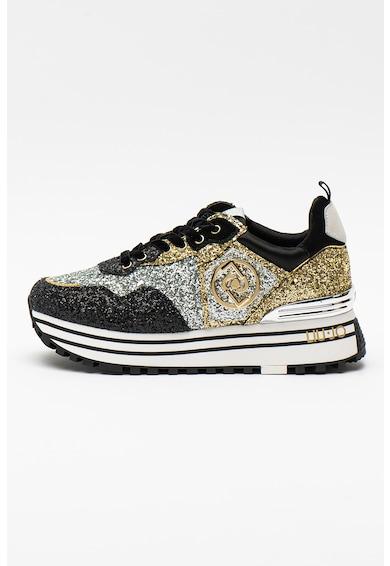 Liu Jo Pantofi sport stralucitori cu garnituri de piele Maxi Wonder Femei