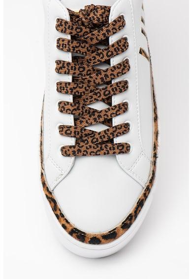 Liu Jo Pantofi sport de piele si piele ecologica cu insertii de piele cu par scurt Silvia Femei