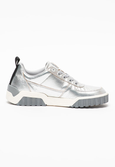 Diesel Pantofi sport din piele cu aspect metalizat S-Rua Femei