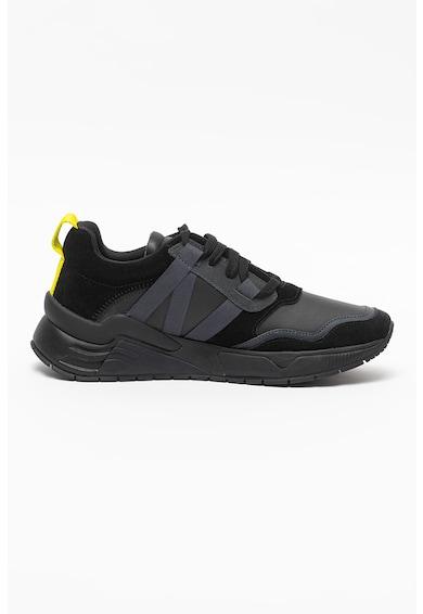 Diesel Pantofi sport din piele si piele intoarsa S-Brentha Barbati