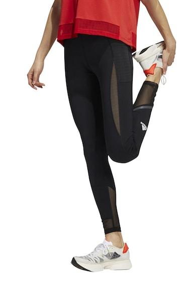 adidas Performance Colanti pentru fitness, cu insertii de plasa Femei