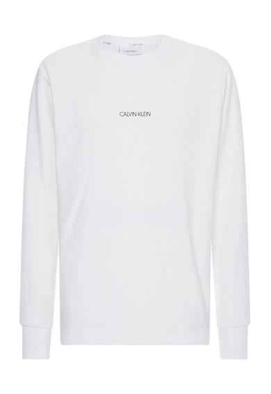 CALVIN KLEIN Bluza sport din amestec de bumbac organic cu aspect texturat Barbati
