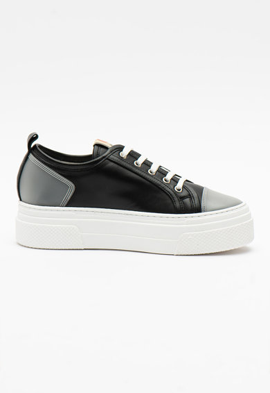 Pollini Pantofi sport din piele ecologica cu platforma Femei