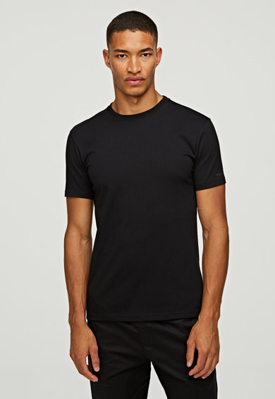 Karl Lagerfeld Set de tricouri de casa slim fit, de bumbac organic - 2 piese Barbati