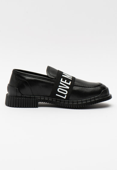 Love Moschino Pantofi loafer din piele cu banda logo Femei