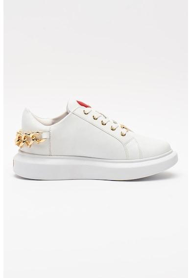 Love Moschino Pantofi sport cu talpa wedge si accesoriu cu lant Femei