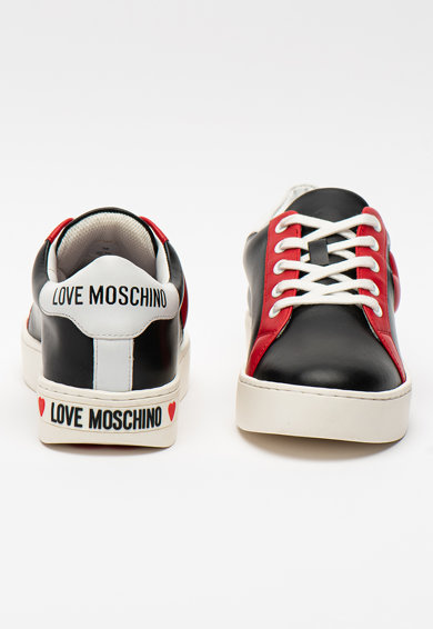 Love Moschino Pantofi sport din piele cu model colorblock Femei