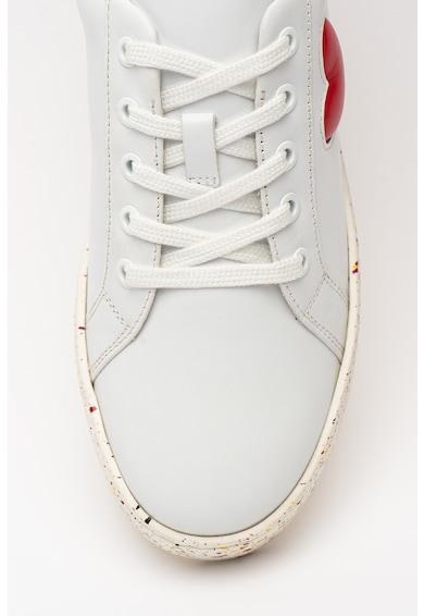 Love Moschino Pantofi sport din piele cu aspect cu pete decorative Femei